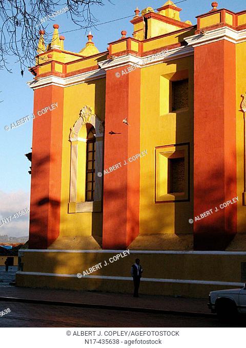Side façade of cathedral, San Cristóbal de las Casas. Chiapas, Mexico