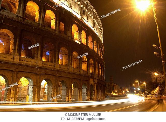 The Colosseum at night, Rome