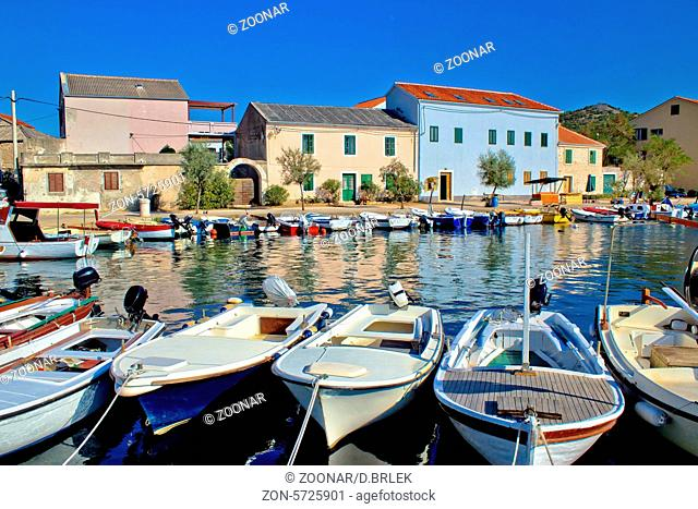 Town of Vinjerac waterfront view, Dalmatia, Croatia