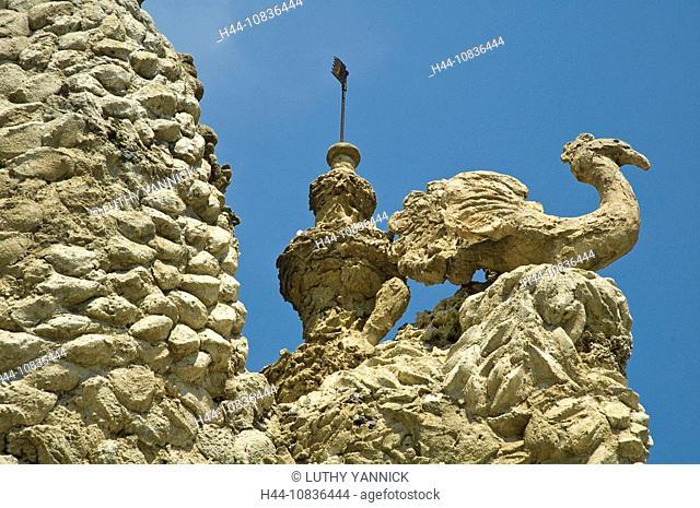 France, Europe, Palais idéal, Architecture, Hautrives, Drome, Europe, Ferdinand Cheval, Ideal, castle, Naive Art, Outd