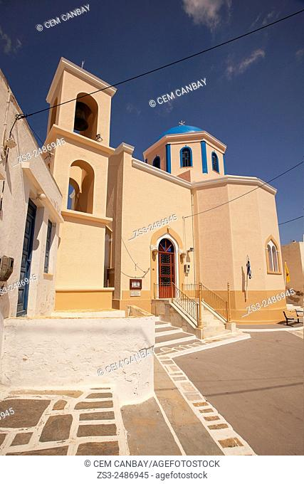Colorful church in Hora, Serifos, Cyclades Islands, Greek Islands, Greece, Europe