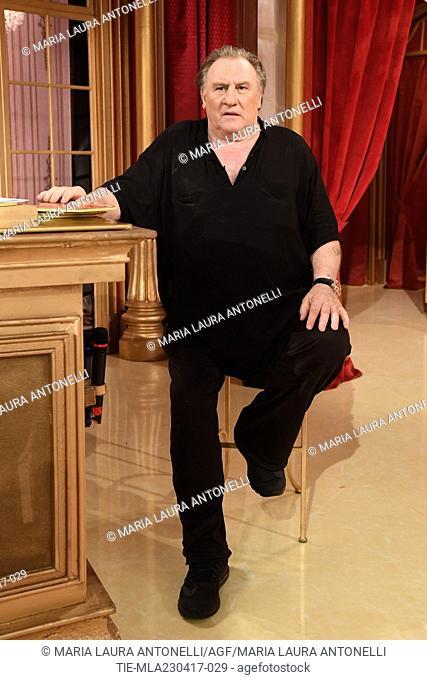 Gerard Depardieu during the tv show Ballando con le stelle, Rome, ITALY-22-04-2017