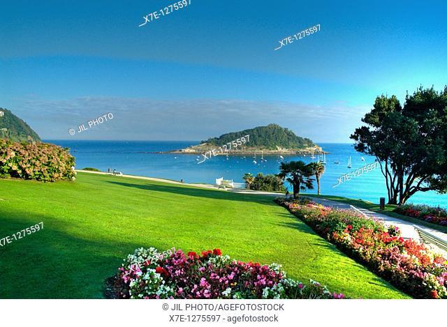 La Concha Bay, see from Miramar Palace gardens