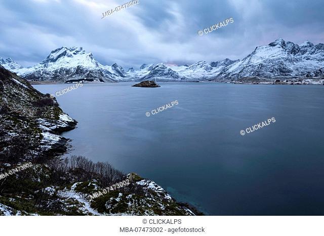 The Selfjorden, municipality of Flakstad, Lofoten Island, Norway, Europe