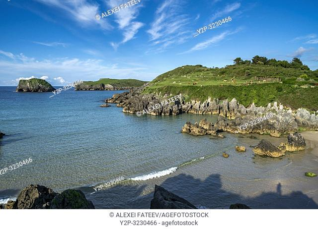 Coast of Atlantic ocean in Barro, Asturias, Spain