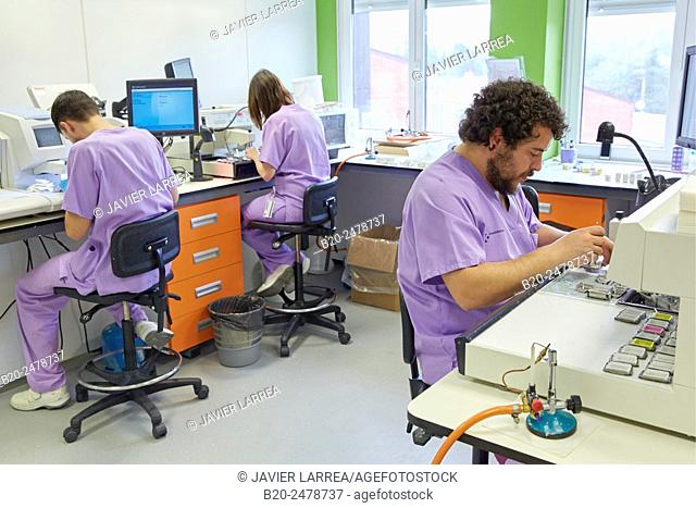 Waxed, Histology, Sample preparation, Anatomic Pathology, Hospital Donostia, San Sebastian, Gipuzkoa, Basque Country, Spain