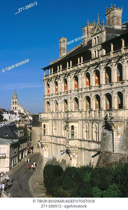 Façade des Loges. Chateau. Blois. Val de Loire. Maine-et-Loire. France