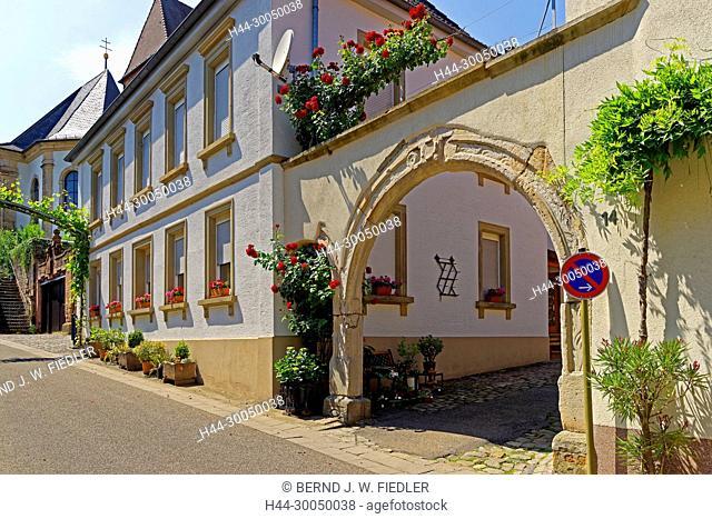 Vineyard, entrance, Gleisweiler Germany