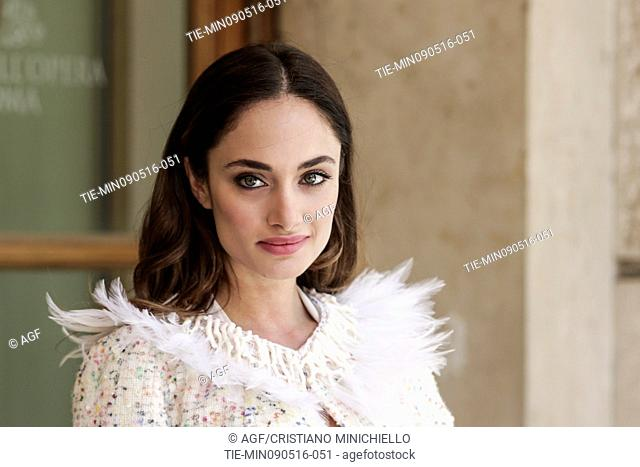 Denise Capezza attends the photocall of the fiction Gomorrah 2, Rome, Italy 09/05/2016