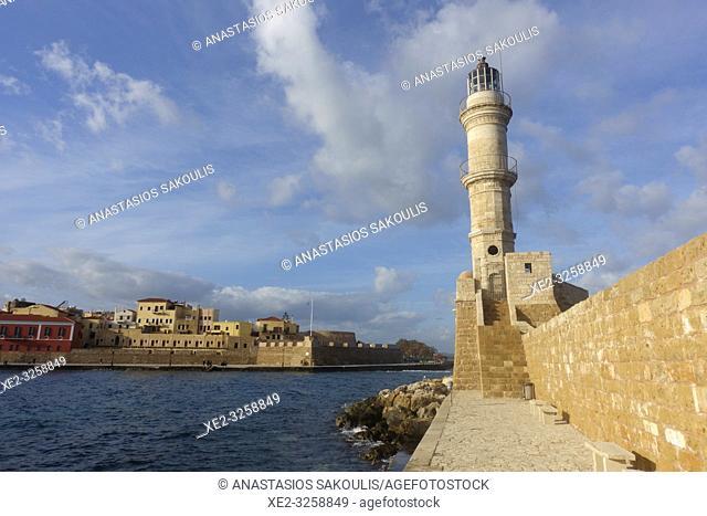 Chania Venetian Harbor, Crete, Greece