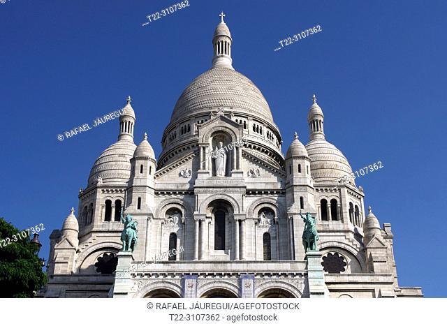 Paris (France). Basilica of the Sacred Heart of Montmartre (Basilique du Sacré-Cœur) in the city of Paris