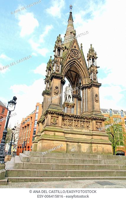 Memorial Town hall square Manchester England UK