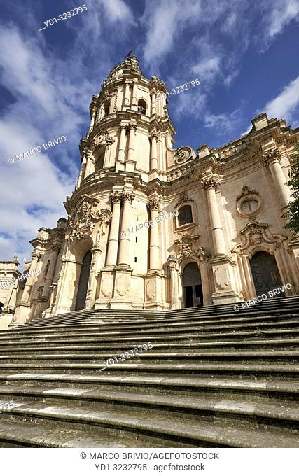 Duomo of San Giorgio Cathedral in Modica Sicily Italy