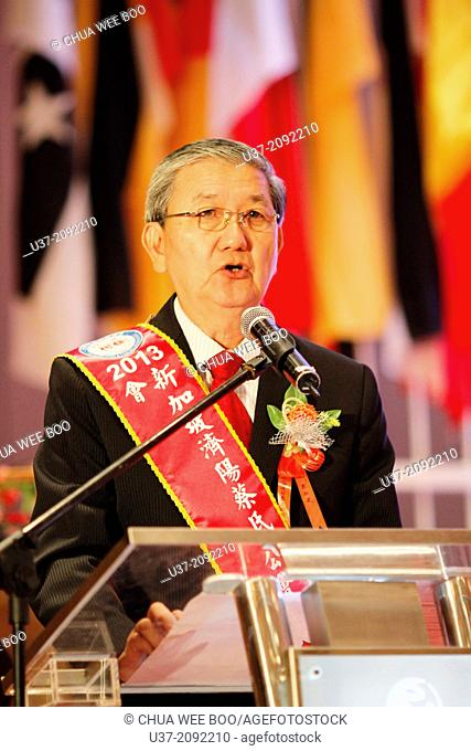 Top official giving speech at The World Chai's Clan 17th Anniversary in Genting Highland Convention Centre, Malaysia