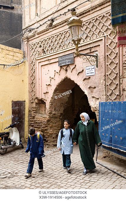 africa, morocco, marrakech, souq, daily life