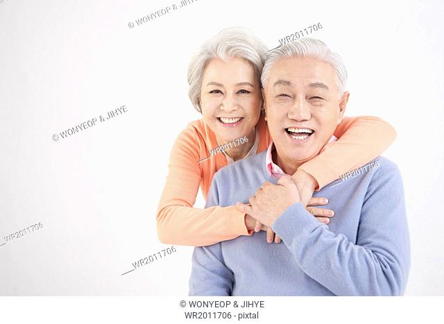 an old couple posing