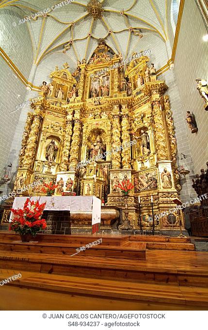 Parish Church of San Pedro de Anso, altarpiece, sixteenth century. Huesca. Aragon. Spain