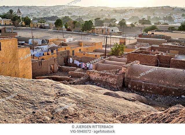 EGYPT, ASWAN, 10.11.2016, nubian village near Aswan, Egypt, Africa - Aswan, Egypt, 10/11/2016