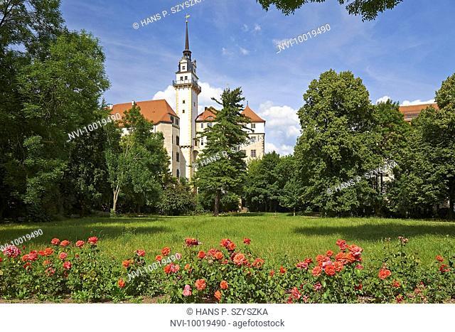 Castle Hartenfels with Hausmannsturm tower, Torgau, Saxony, Germany