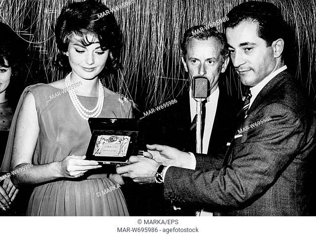 sylva koscina, consegna premio ciak d'oro, roma, 1961