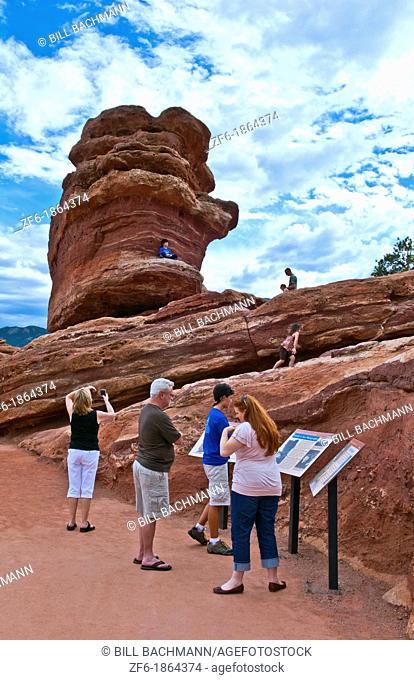 Colorado Springs Colorado Garden of the Gods National Park Balanced Rock attraction boulder