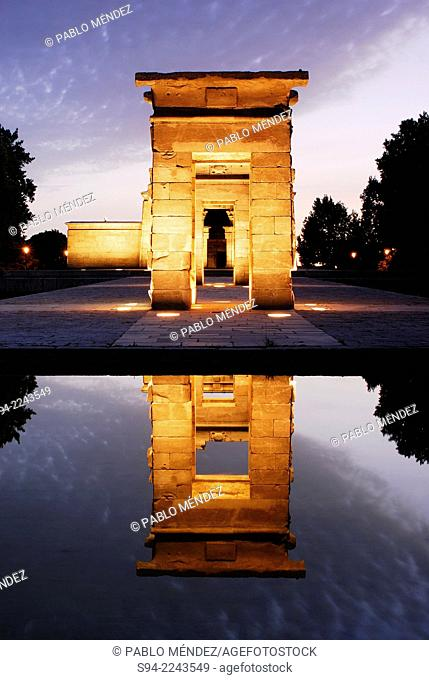 Temple of Debod in Madrid center, Spain