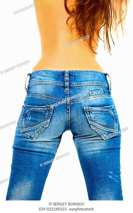 Girl in blue jeans