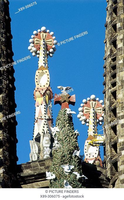 Sagrada Familia towers. Barcelona. Spain