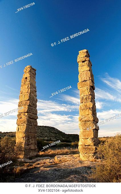Romanesque ruins of Los Bañales, Layana, Cinco Villas, Zaragoza province, Aragon, Spain