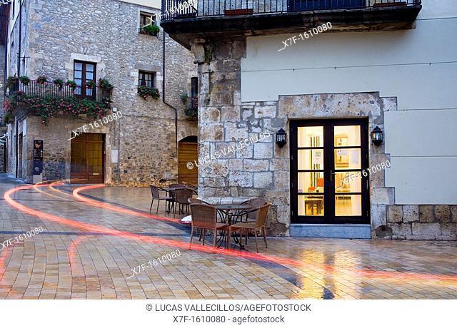 Main square,Besalú,Garrotxa,Girona province  Catalonia  Spain