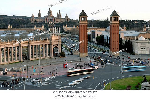 Plaza de España, Barcelona, Catalonia, Spain