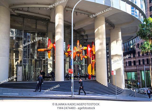 1 Bligh Street, 'Day In, Day Out' sculpture, by James Angus, CBD, Sydney, Australia