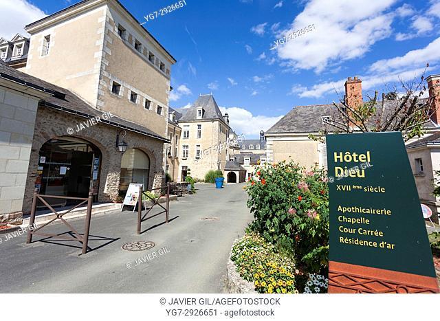 Hôtel-Dieu, Baugé, Maine-et-Loire, Pays de la Loire, France