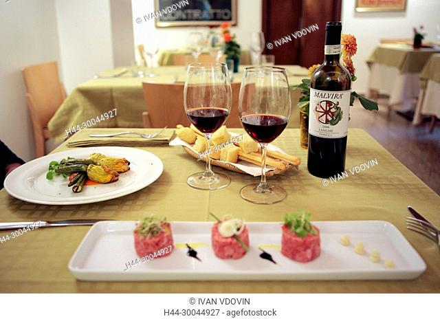 Slow food restaurant, Turin, Piedmont, Italy