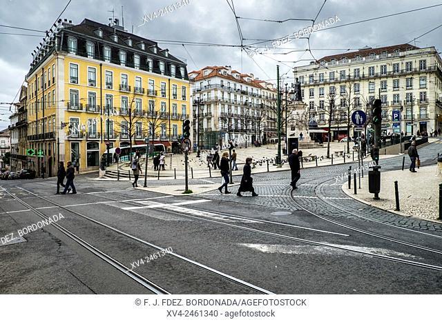Luis de Camoes square, Chiado, Lisbon, Portugal