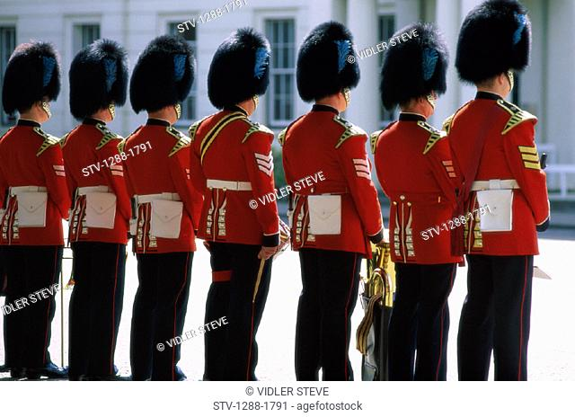 Buckingham, Changing, England, United Kingdom, Great Britain, English, Europe, European, Guard, Guards, Hats, Holiday, Landmark