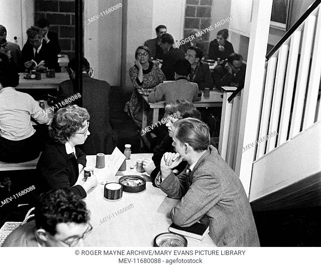 Downstairs at the Partisan Coffee House, Soho, London. The Partisan was a radical venue of the New Left, at 7 Carlisle Street