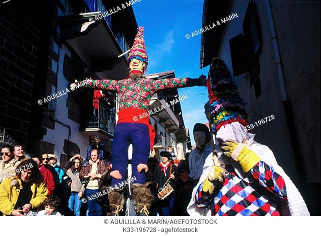 Carnival 'Miel Otxin'. Lanzt. Navarre province. Spain