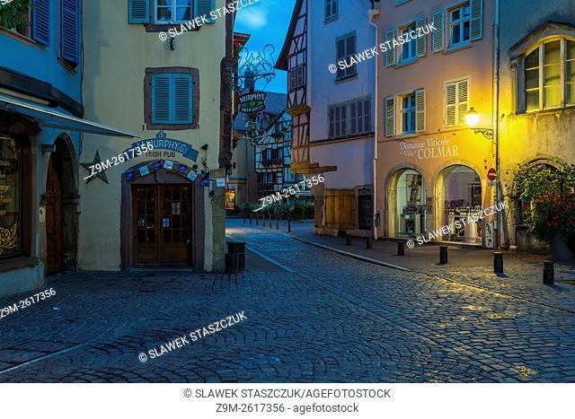 Dawn in Colmar, Alsace, France