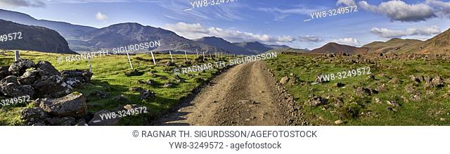 Private road, Hitardalur, Western Iceland