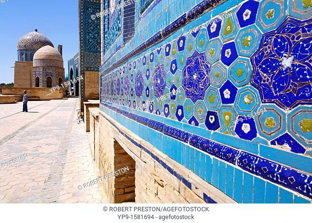 The Shah-i-Zindi, the avenue of mausoleums, Samarkand, Uzbekistan