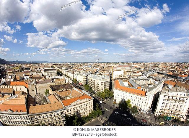View from Saint Stephans Basilica, Budapest, Hungary, Eastern Europe