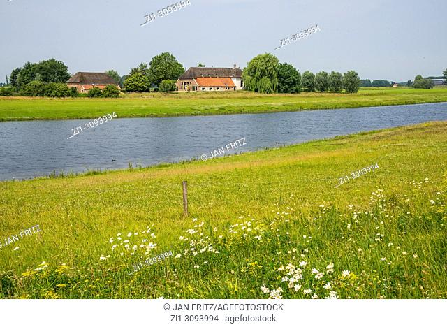view at countryside with farm in Gelderland, Holland