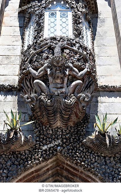 Triton gate, Palacio da Pena, Sintra, Unesco World Heritage Site, Lisbon, Portugal, Europe