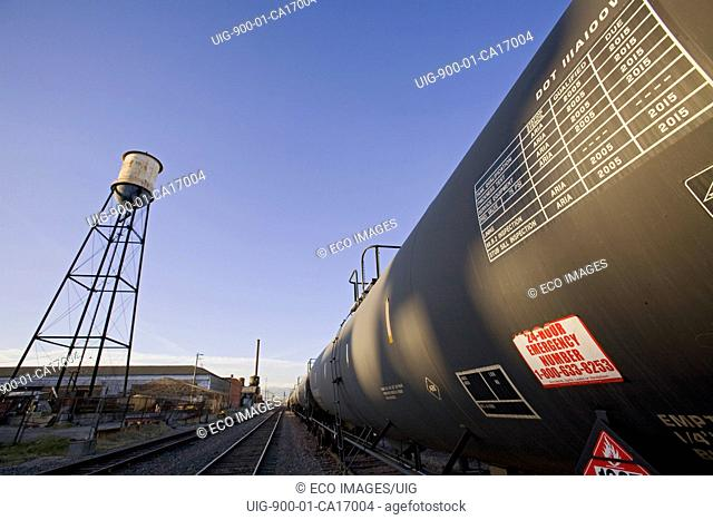 Old Water tower in train yards on Vernon. Los Angeles, California, USA