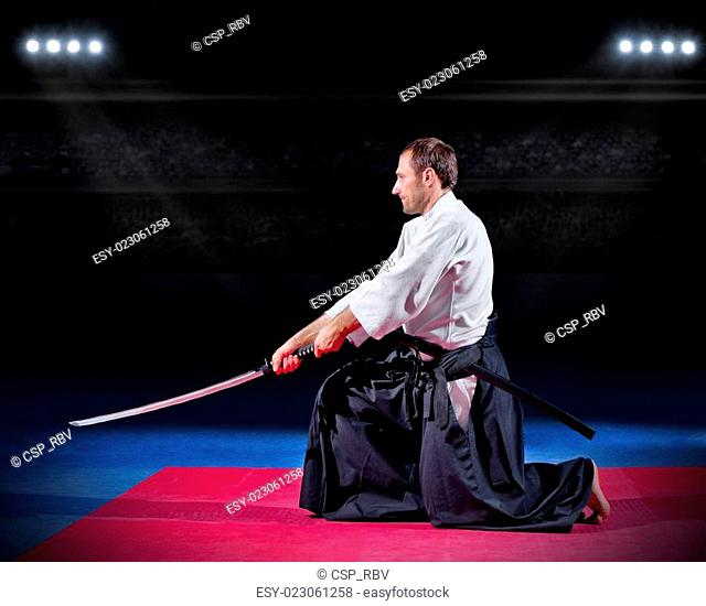 Aikido fighter with sword