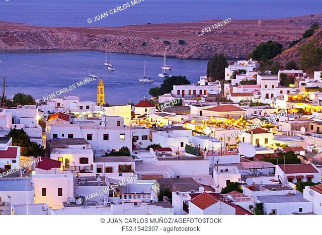 Lindos Village, East Coast, Rodhes Island, The Dodecanese Archipelago, Greece, Europe