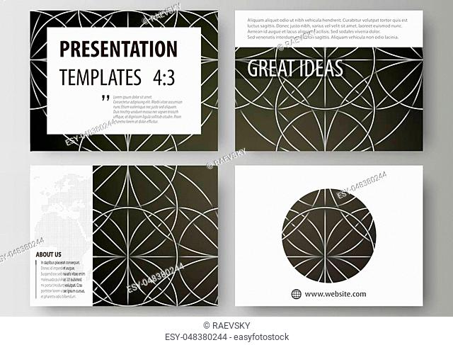 Set of business templates for presentation slides. Easy editable abstract vector layouts in flat design. Celtic pattern. Abstract ornament
