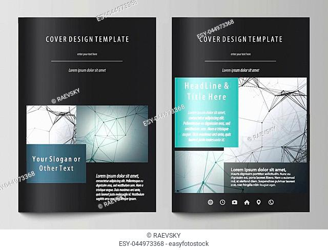 Business templates for brochure, magazine, flyer, booklet or annual report. Cover design template, easy editable vector, abstract flat layout in A4 size