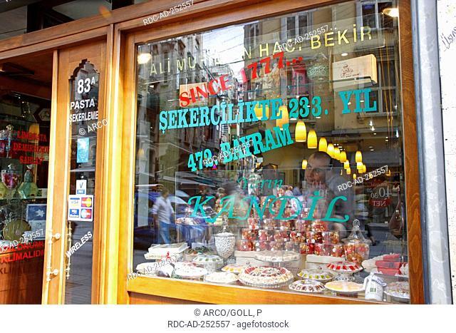 Confiserie Haci Bekir Istiklal Caddesi street Beyoglu Istanbul Turkey